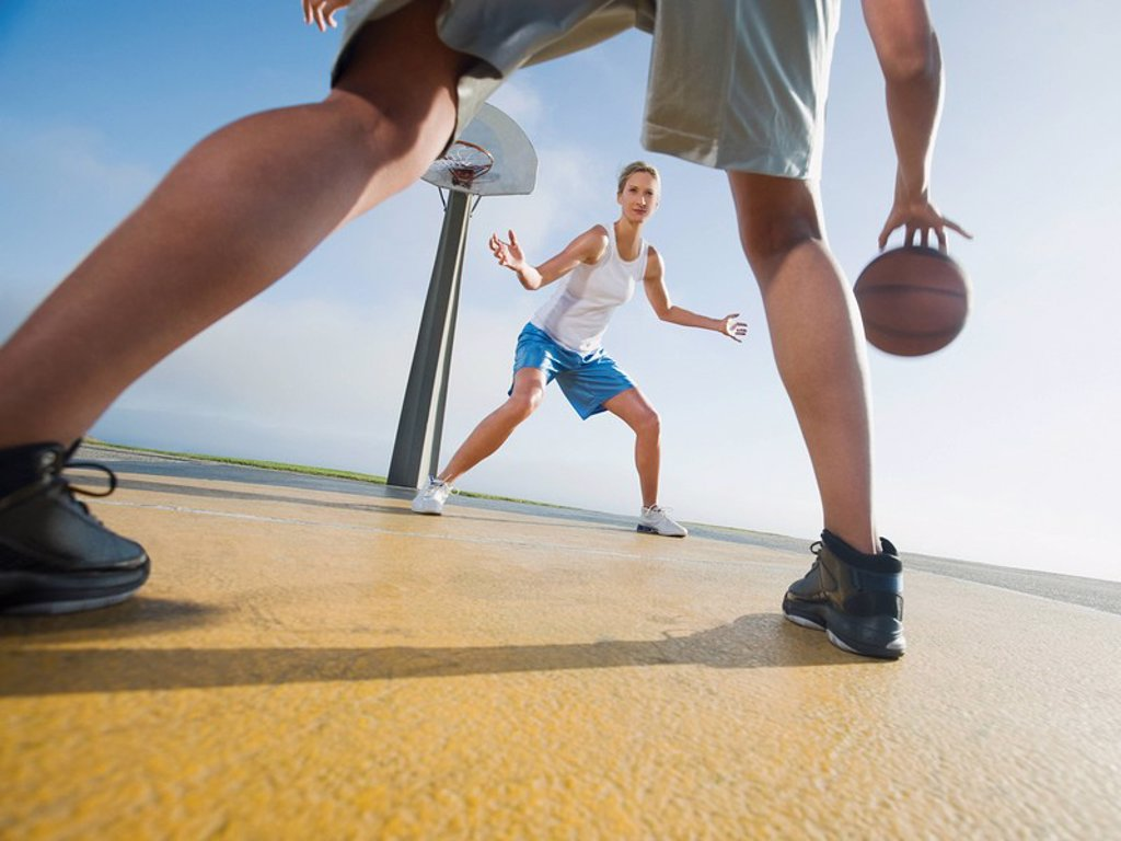 Stock Photo: 1795R-37339 Basketball players