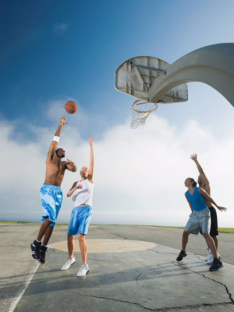 Stock Photo: 1795R-37343 Basketball players