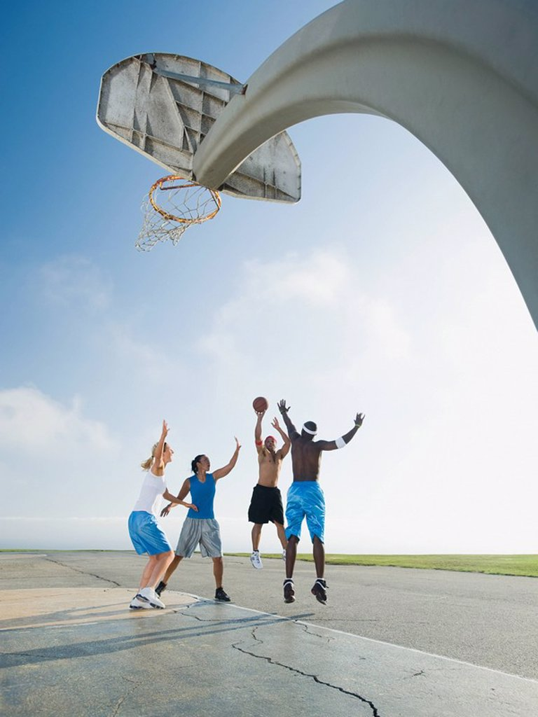 Stock Photo: 1795R-37344 Basketball players