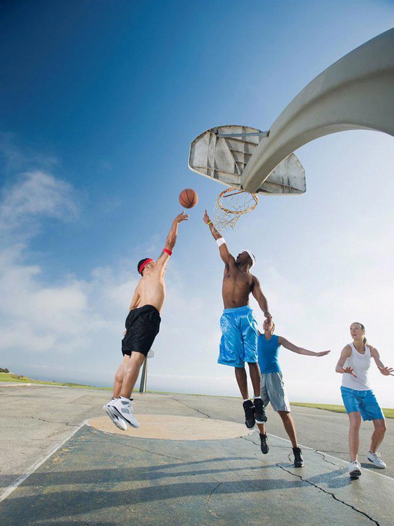 Stock Photo: 1795R-37345 Basketball players