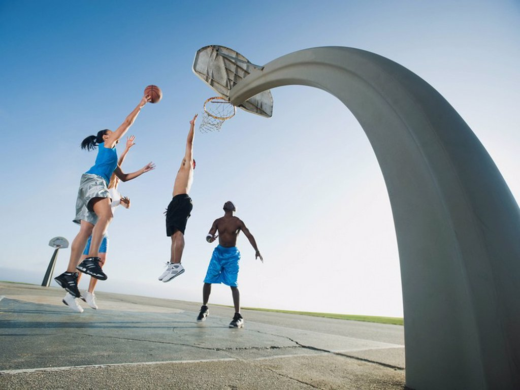 Stock Photo: 1795R-37348 Basketball players
