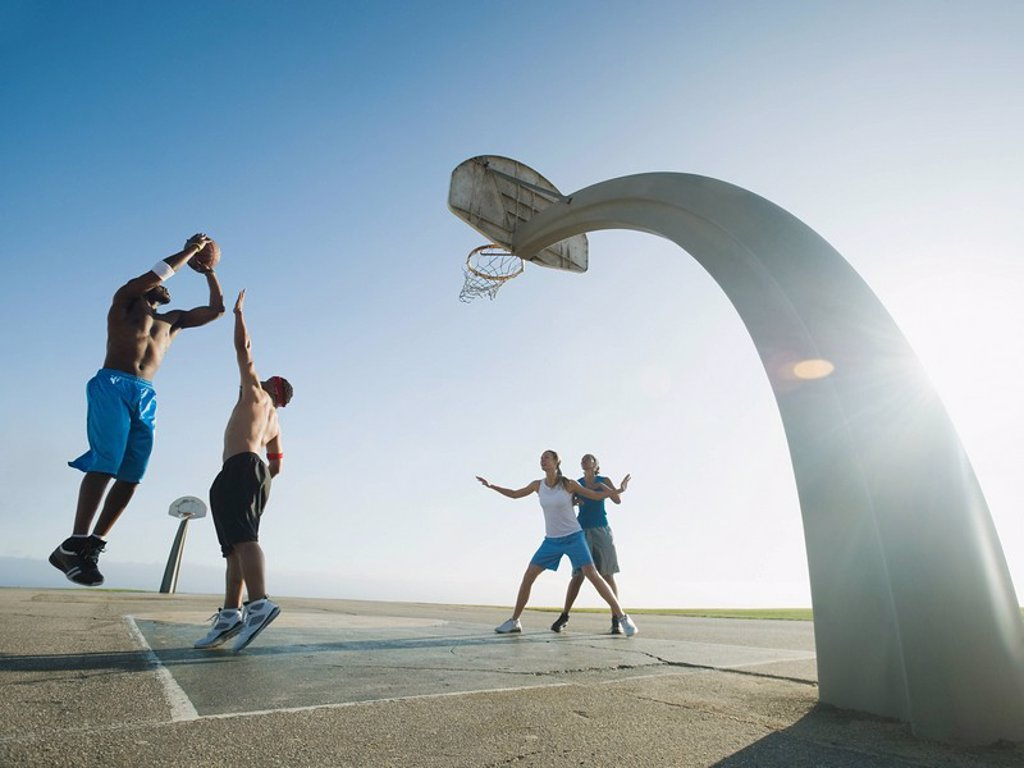 Stock Photo: 1795R-37350 Basketball players