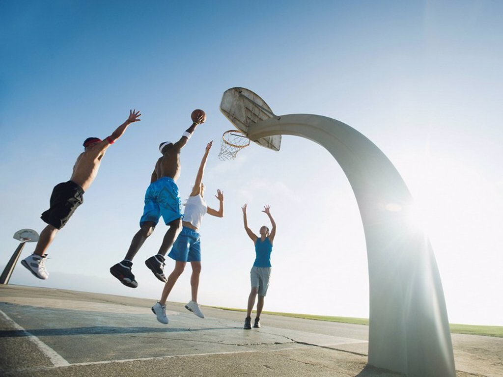 Stock Photo: 1795R-37351 Basketball players