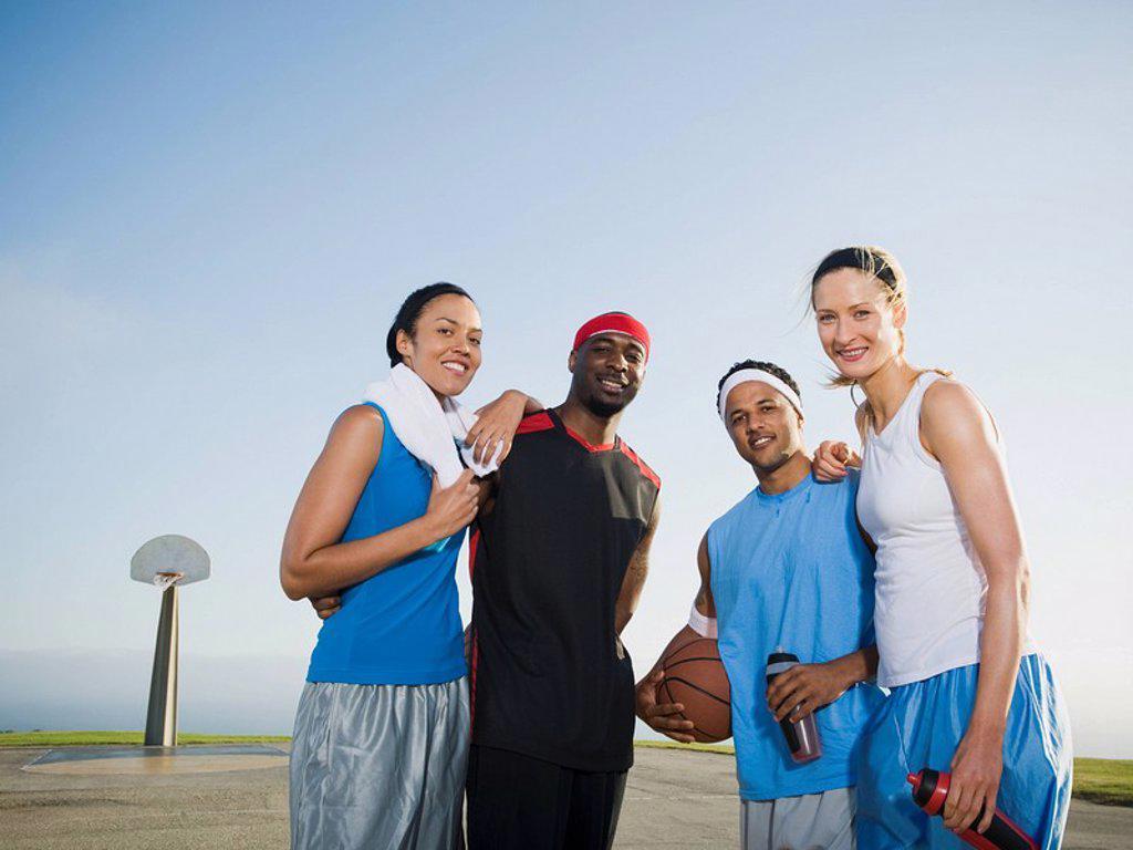 Basketball players : Stock Photo