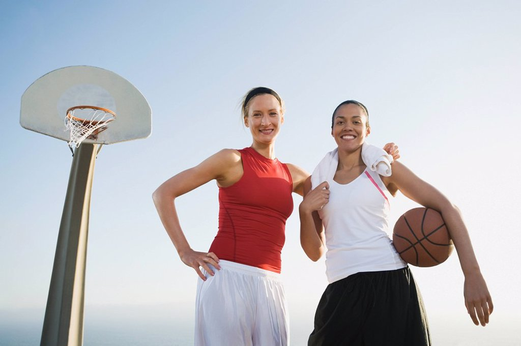 Stock Photo: 1795R-37361 Basketball players