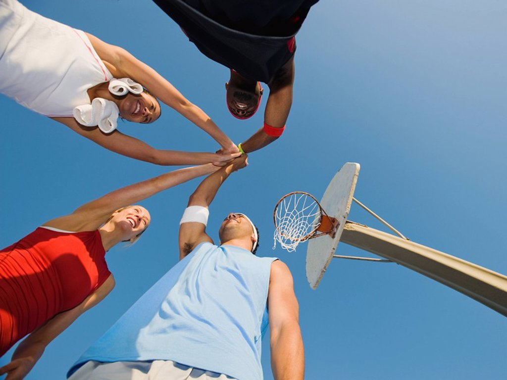 Stock Photo: 1795R-37366 Basketball players