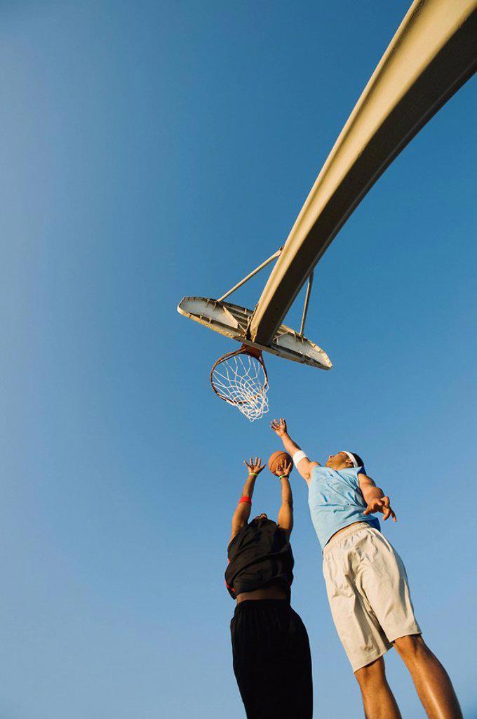 Stock Photo: 1795R-37371 Basketball players