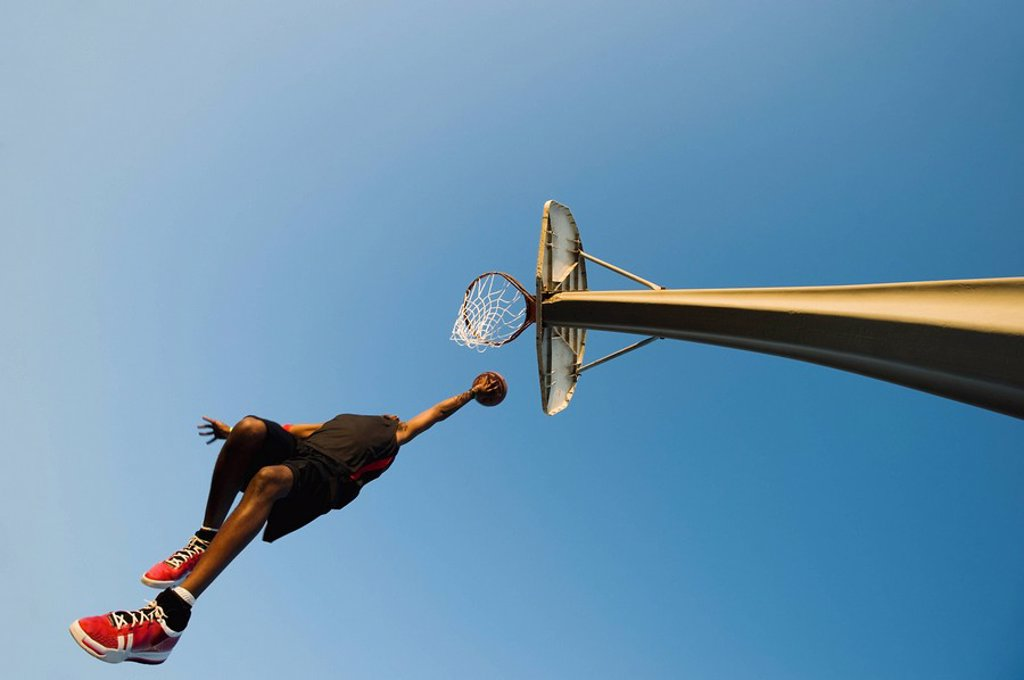 Stock Photo: 1795R-37372 Basketball player