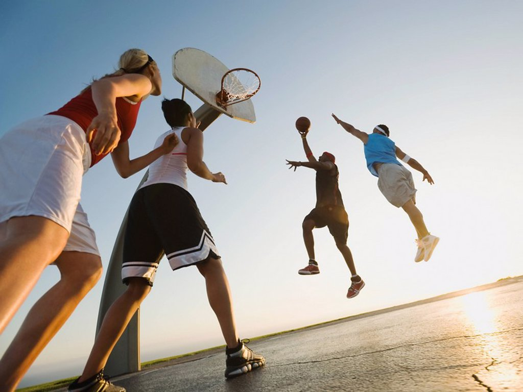 Stock Photo: 1795R-37375 Basketball players