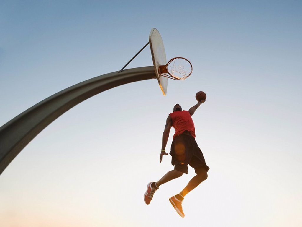Stock Photo: 1795R-37379 Basketball player