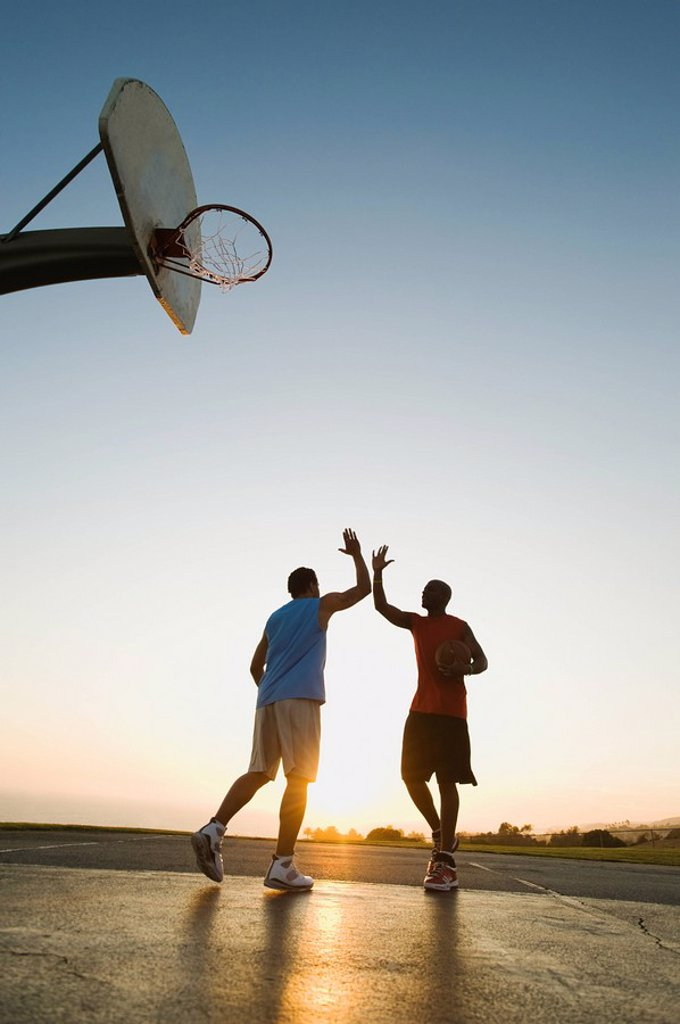 Stock Photo: 1795R-37381 Basketball players