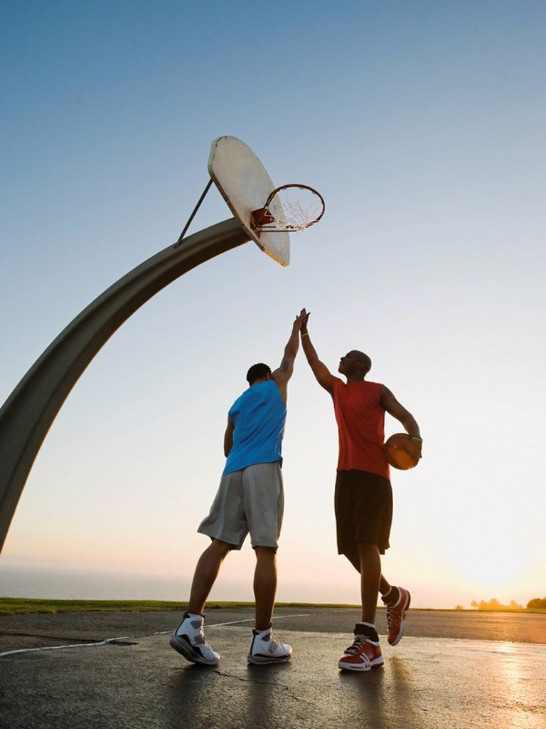 Stock Photo: 1795R-37382 Basketball players