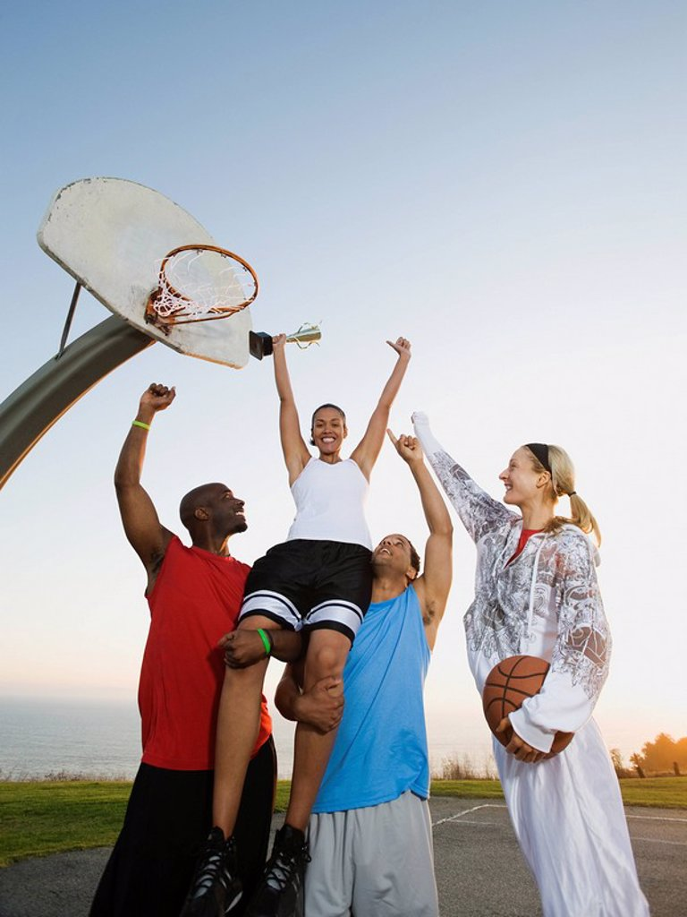 Stock Photo: 1795R-37383 Basketball players