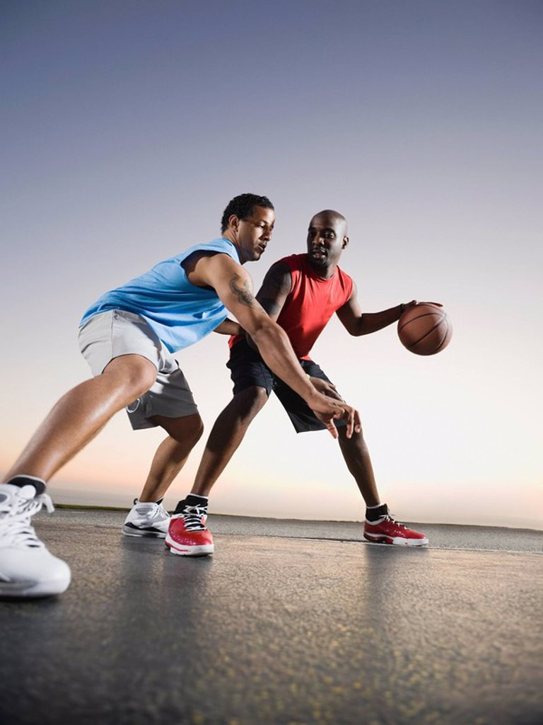 Stock Photo: 1795R-37387 Basketball players