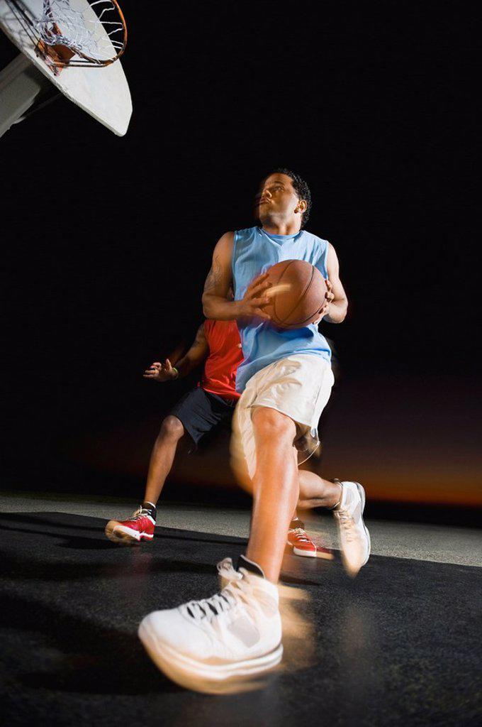 Stock Photo: 1795R-37400 Basketball players
