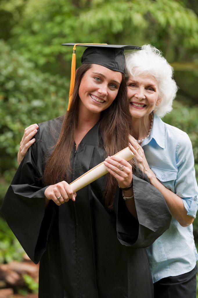 Stock Photo: 1795R-37573 Graduate and elderly woman