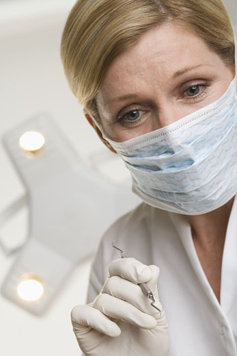 Stock Photo: 1795R-3774 Portrait of dental hygienist