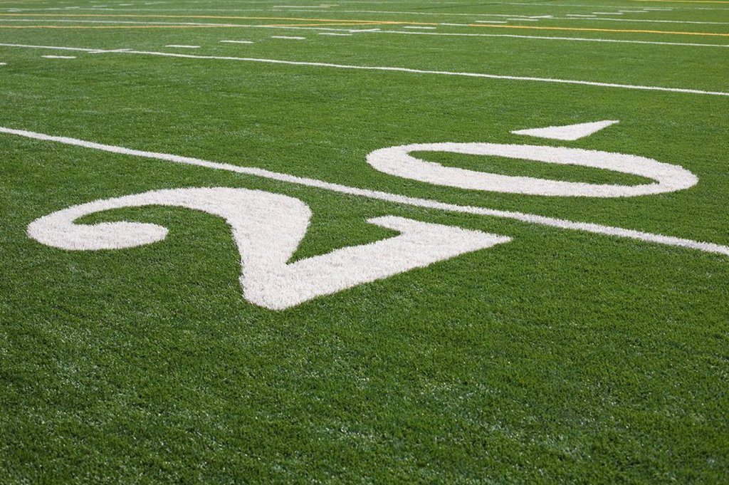 Stock Photo: 1795R-37881 Twenty yard line