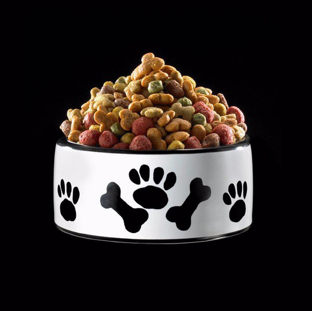 Stock Photo: 1795R-38470 Bowl of dog food