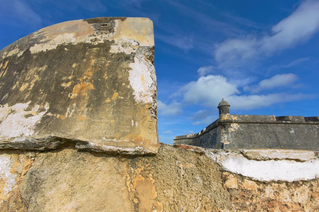 Puerto Rico, Old San Juan, El Morro Fortress : Stock Photo