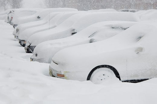 Stock Photo: 1795R-4356 Cars buried in snow