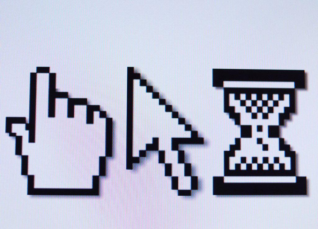 Studio shot of cursors : Stock Photo