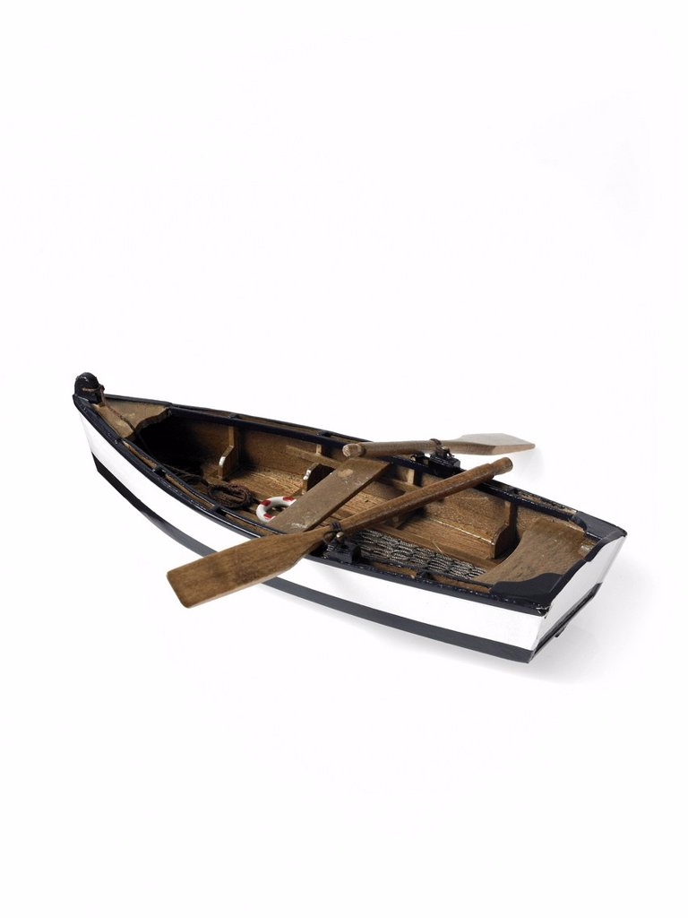 Stock Photo: 1795R-46694 Studio shot of wooden boat