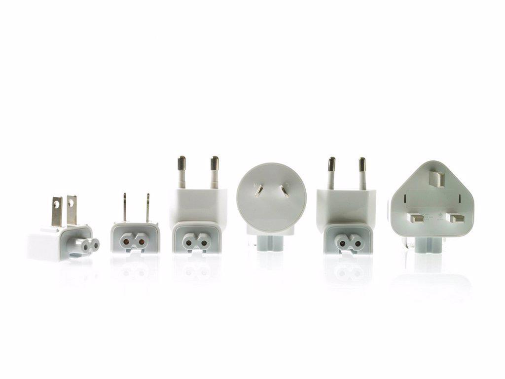 Plugs on white background : Stock Photo
