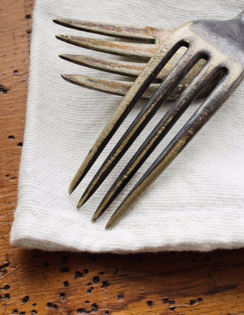 Stock Photo: 1795R-47507 Two forks on napkin