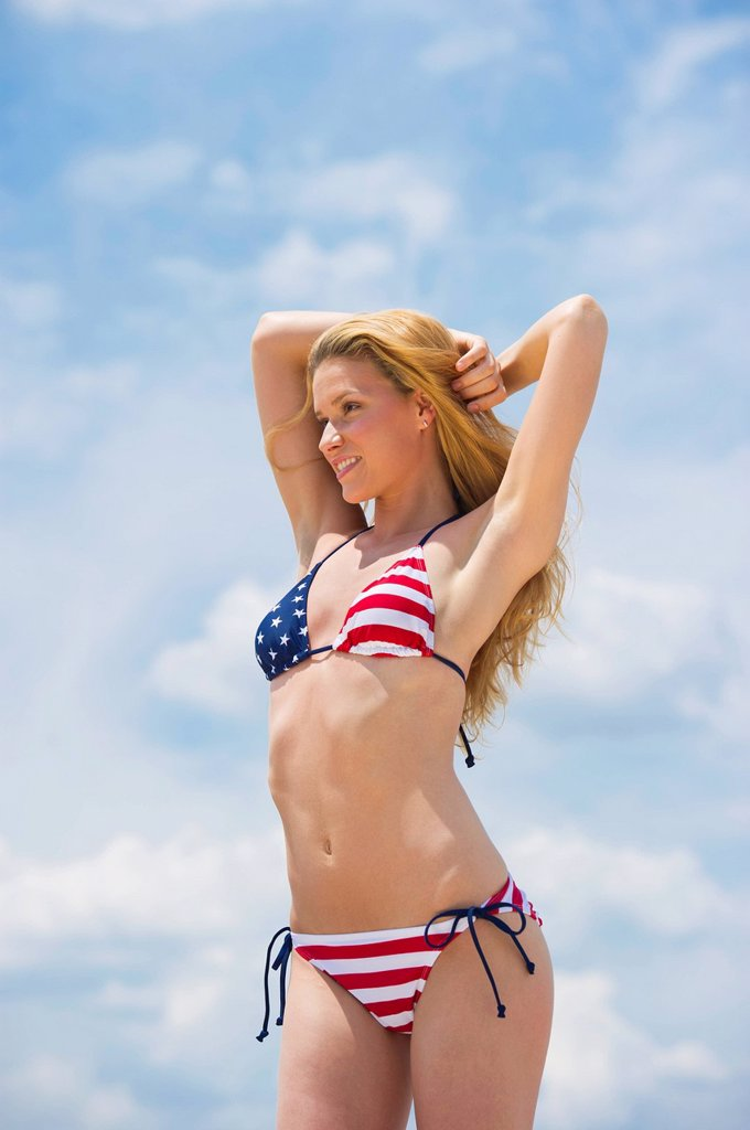 Stock Photo: 1795R-48139 Portrait of woman in bikini