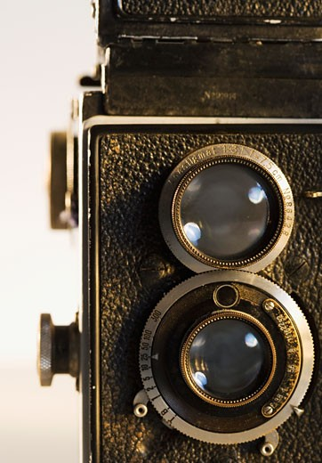 Stock Photo: 1795R-4856 Close up of old fashioned movie camera