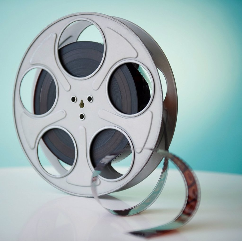 Close up of film reel : Stock Photo