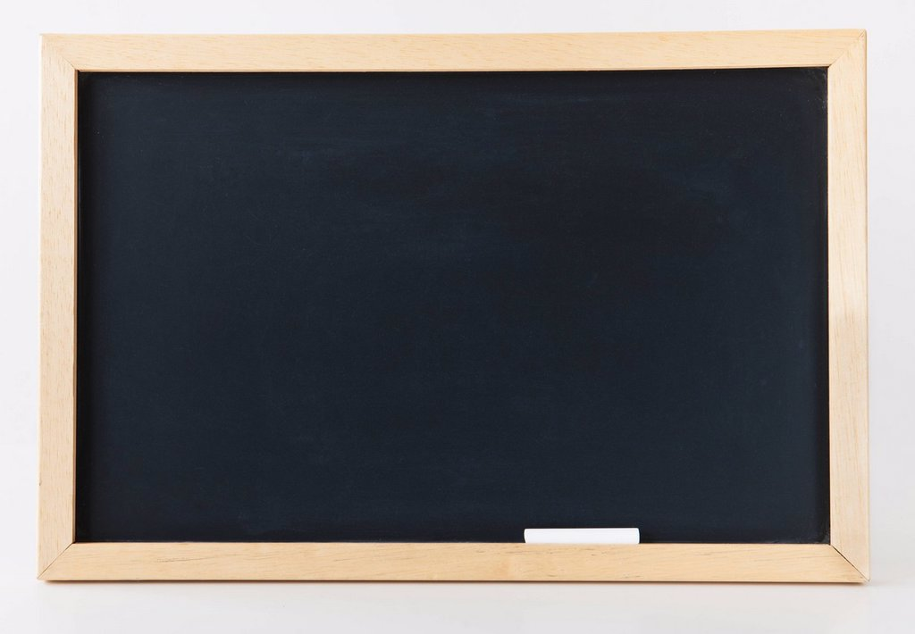 Empty blackboard, studio shot : Stock Photo