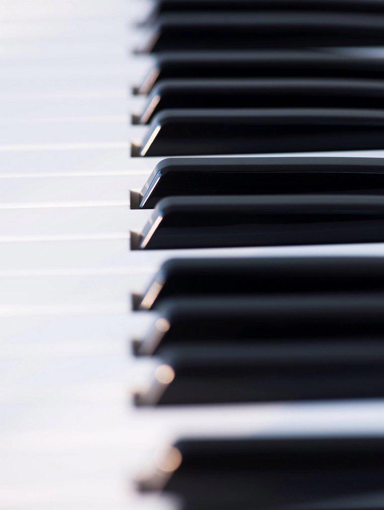 Stock Photo: 1795R-49143 Close up of piano keys