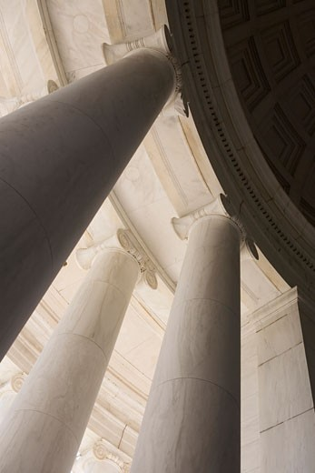 Ionic columns Jefferson Memorial Washington DC USA : Stock Photo