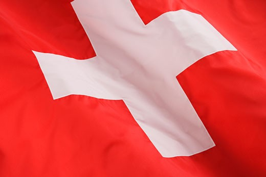 Close up of Swiss flag : Stock Photo
