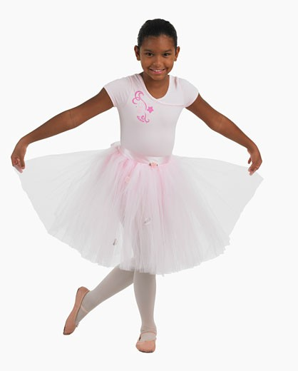Stock Photo: 1795R-5373 Studio shot of girl practicing ballet