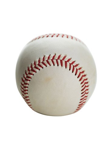 Stock Photo: 1795R-5398 Close up of baseball