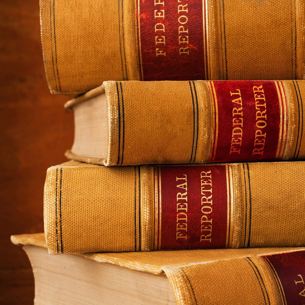Close_up of lawyer books : Stock Photo