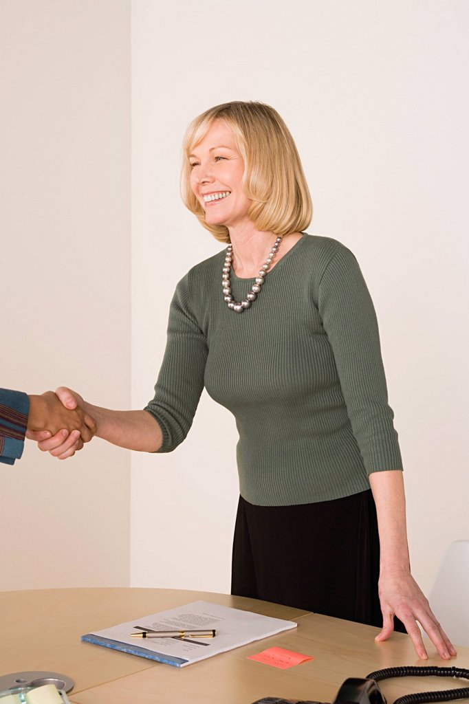Stock Photo: 1795R-57255 Business people shaking hands