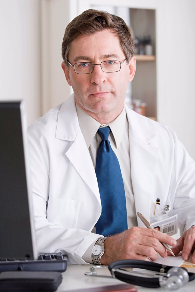 Portrait of male doctor : Stock Photo