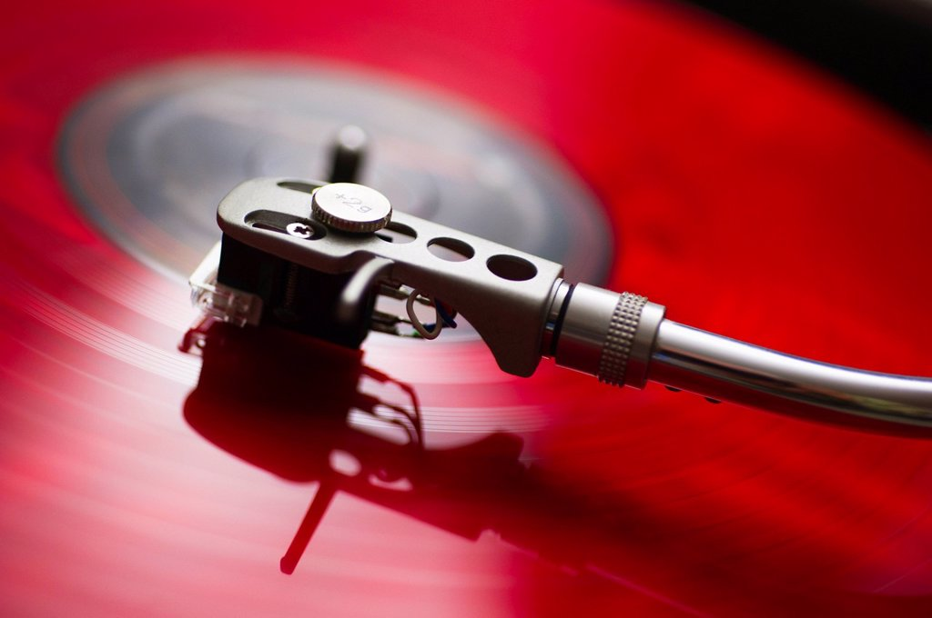 Stock Photo: 1795R-58317 Detail of record player