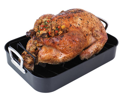 Stock Photo: 1795R-5854 Roasted turkey in pan