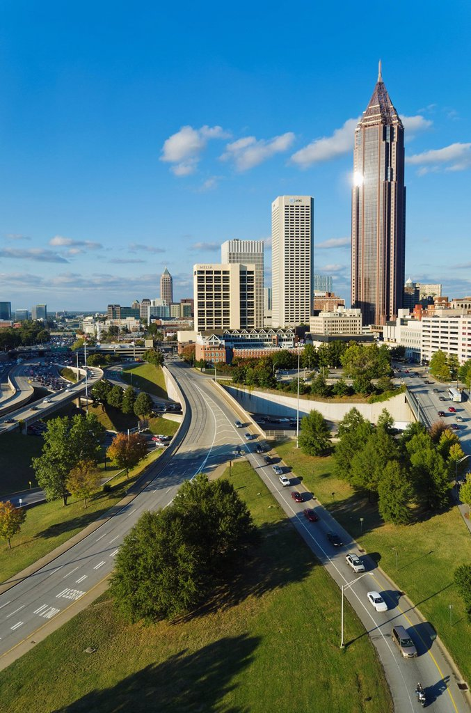 USA, Georgia, Atlanta, View of downtown : Stock Photo
