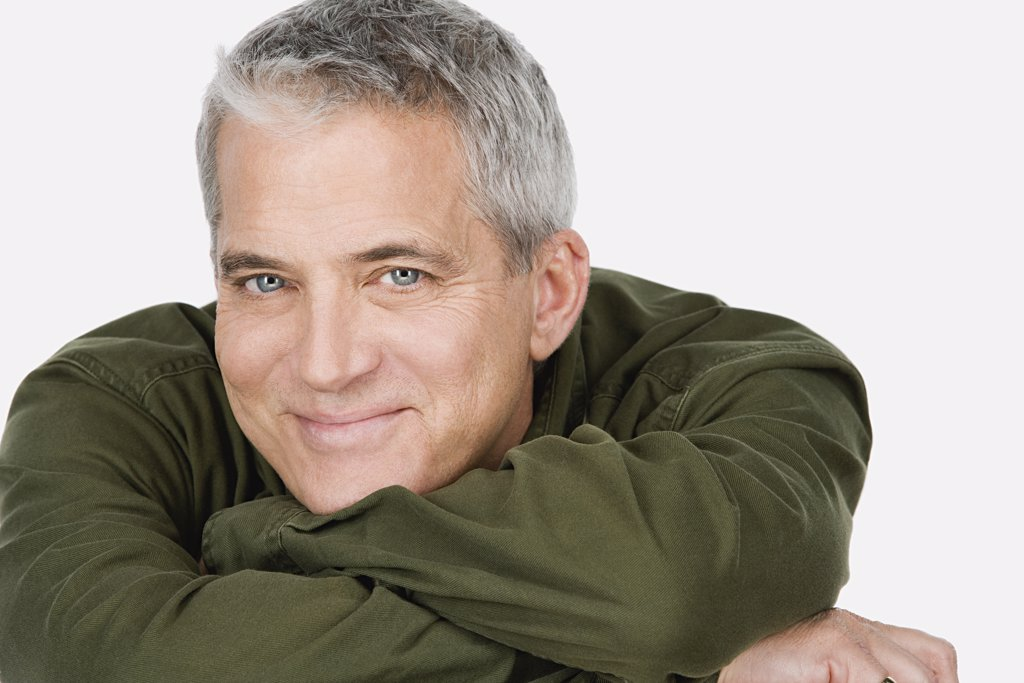 Stock Photo: 1795R-60220 Studio portrait of mature man