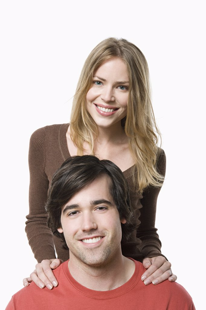 Stock Photo: 1795R-61164 Studio portrait of young couple