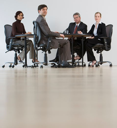 Group of businesspeople having meeting : Stock Photo