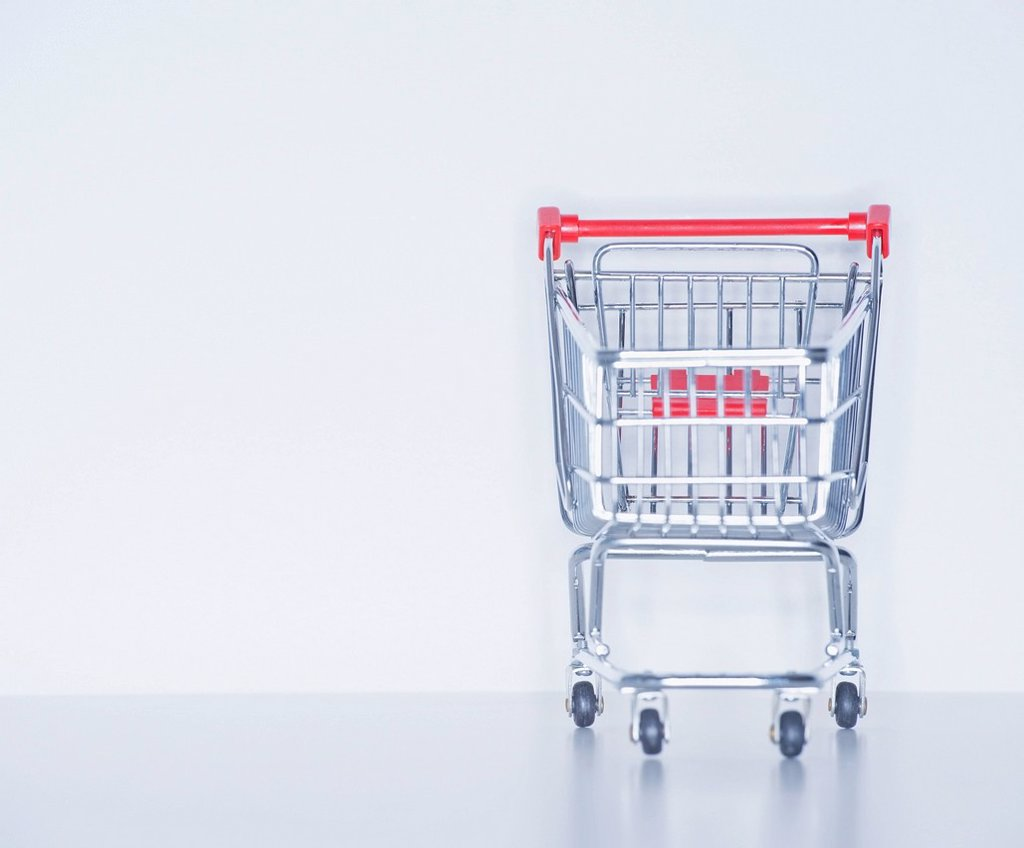 Studio shot of shopping cart : Stock Photo
