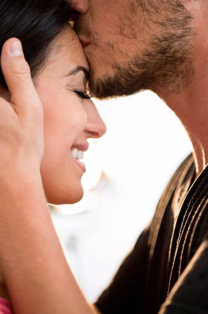 Stock Photo: 1795R-70677 Happy couple embracing