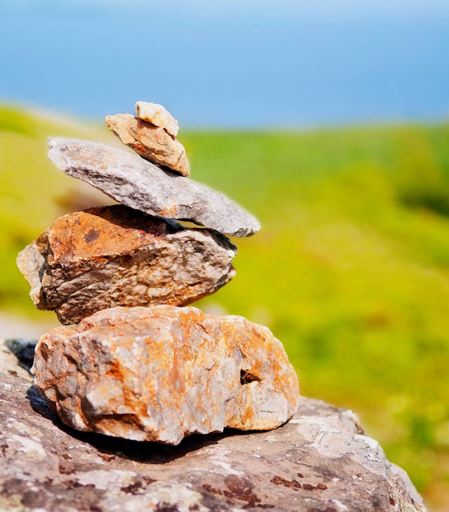 USA, Maine, Camden, Pile of stones : Stock Photo